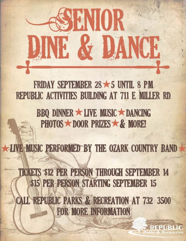 Senior Dine Dance Flyer